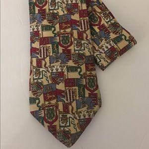 TOMMY HILFIGER Men's Royal Crest Flags Necktie